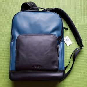 Coach Graham Leather Backpack